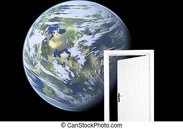 drzwi, world., nowy
