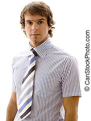 DS #4 - A handsome young businessman in short-sleeved shirt