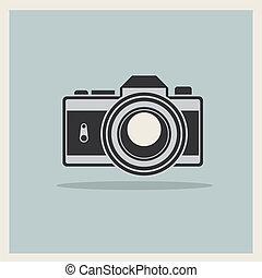 dslr, alte kamera, retro, hintergrund, professionell, ikone