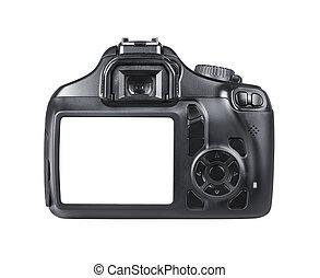 DSLR camera isolated on white background