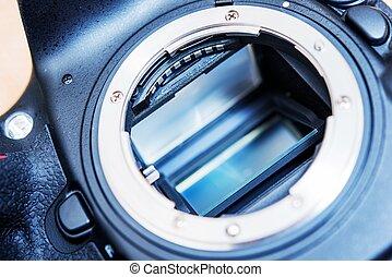 DSLR Camera Mirror. Professional Camera Mirror and Lens...