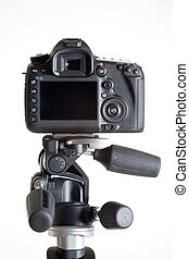 dslr camera on tripod - the dslr camera on tripod