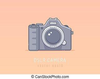 DSLR camera vector illustration