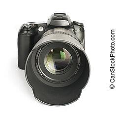 DSLR camera white isolated