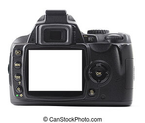 dslr camera with copyspace for text or photo...