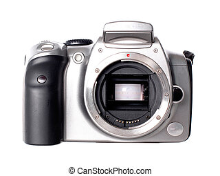 Dslr camera without lens isolated on white