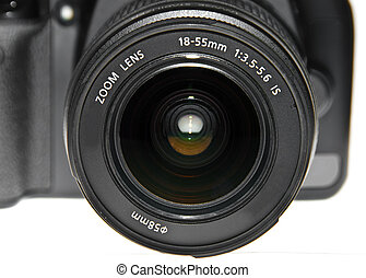 dslr lens close up
