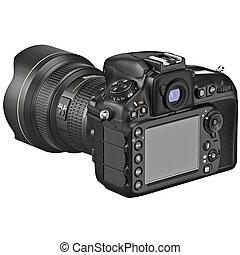 DSLR photo camera, display