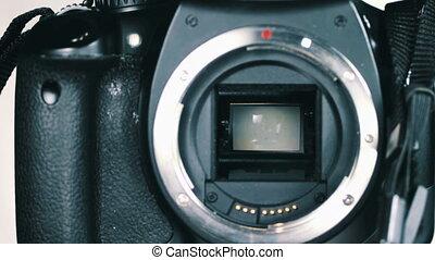 dslr, tükör, szerkezet, redőny, fényképezőgép, 6