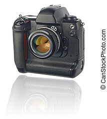 DSLR with clipping path