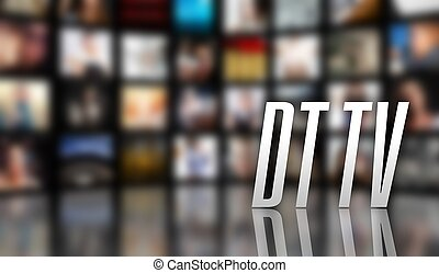 DT TV television concept LCD screen panels