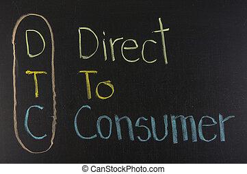 dtc, acronyme, consommateur, direct
