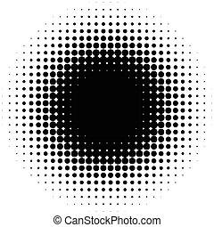 dtp, gráfico, genérico, resumen, o, halftone, prepress, monocromo, concepts., elemento, círculo