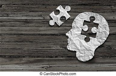 duševní zdravotní stav, znak