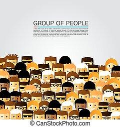 duża grupa, ludzie