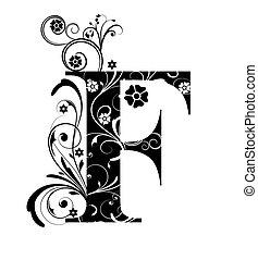duża litera, f