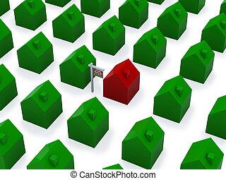 dużo, sprzedaż, domy