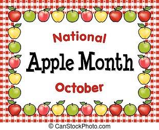 duży parasol, miesiąc, jabłko, czerwony