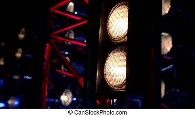 Dual lamps light show equipment work and illumination - Dual...