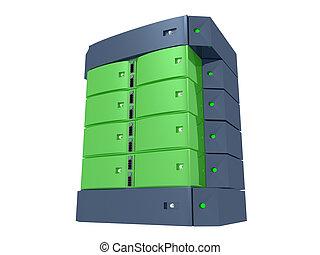dual, servidor, -, verde