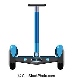 Dual wheel electric hoverboard icon, cartoon style - Dual...