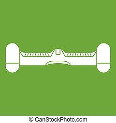 Dual wheel self balancing electric skateboard icon green -...