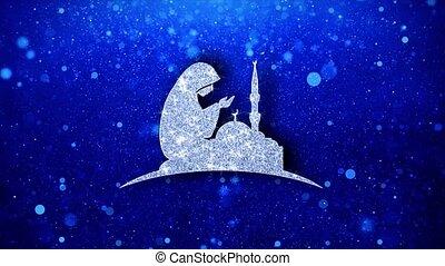 Dua,namaz,praying,islam,islamic Icon Blinking Glitter...
