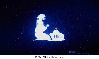 Dua,namaz,praying,islam,islamic Symbol Digital Pixel Noise...