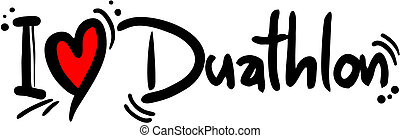 Duathlon love - Creative design of duathlon love