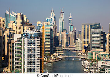 dubai, émirats arabes unis, cityscape., marina, dubai