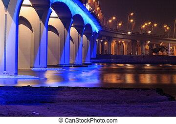 dubai, święto, miasto, most