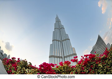 dubai burj khalifa skyscraper - DUBAI, UAE - FEBRUARY 19:...