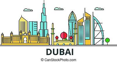 Dubai city skyline.