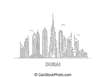 Dubai city skyline.
