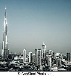 Dubai cityscape - Photo of beautiful Dubai city, burj...