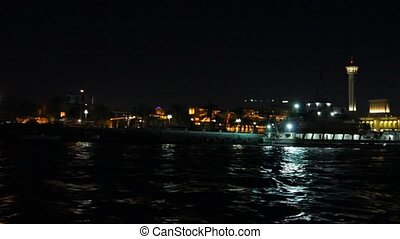 Dubai Creek By Night - Night View Of Dubai Creek, United...