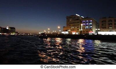 Dubai Creek By Night - Night View Of Dubai Creek, United...