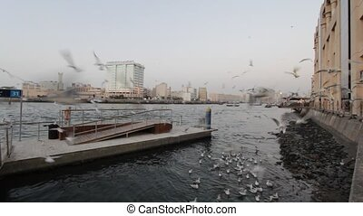Dubai Creek In The Evening, United Arab Emirates
