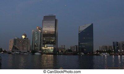 Dubai Creek In The Evening, United Arab Emirates