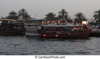 Dubai Creek Seen From Boat - Dubai Creek Seen From A Boat,...