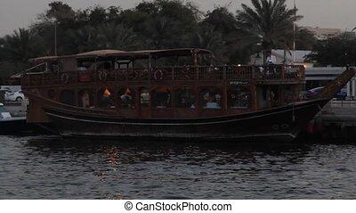 Dubai Creek Seen From Boat - Dubai Creek Seen From A Boat,...