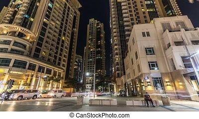 Dubai downtown and Burj Khalifa timelapse hyperlapse in Dubai, UAE