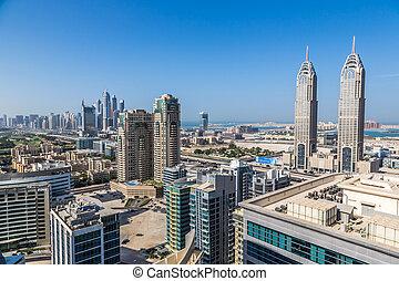 dubai, downtown., leste, emirates árabes unidos, arquitetura