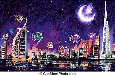 dubai, eid, celebración