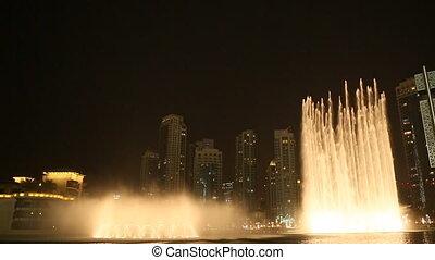 Dubai Fountain at night