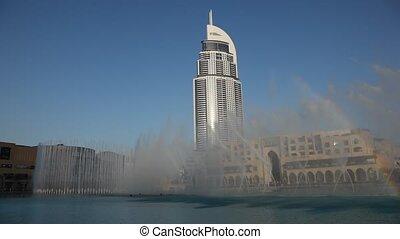 Dubai fountain at the Dubai Mall