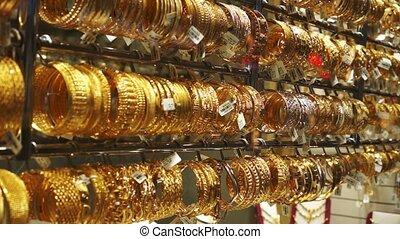 Dubai Golden Souk market at night, UAE