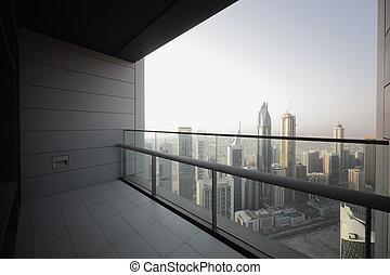 dubai, grattacielo, balcone