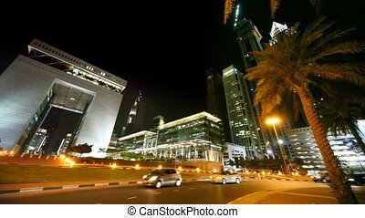 Dubai International Financial Centre - DIFC, night