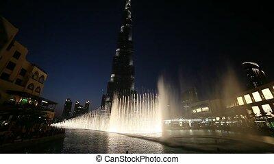 Dubai Khalifa and Fountain